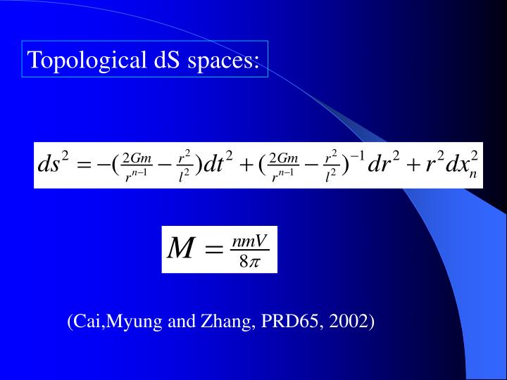 Topological dS spaces: