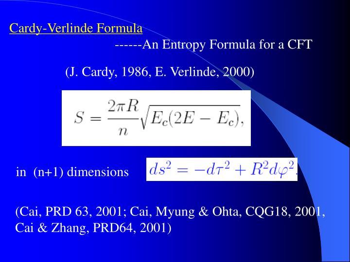 Cardy-Verlinde Formula
