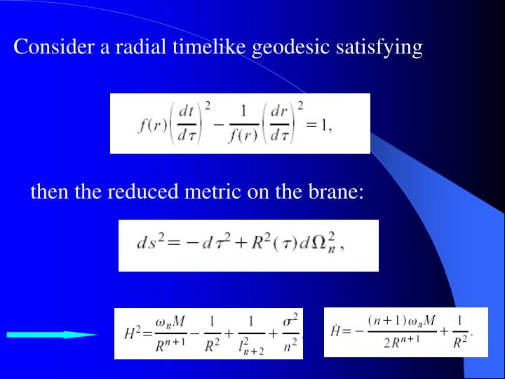 Consider a radial timelike geodesic satisfying