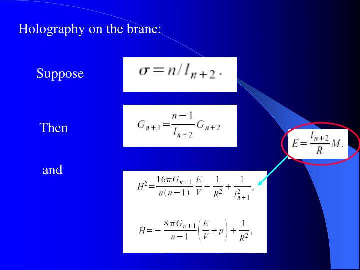 Holography on the brane: