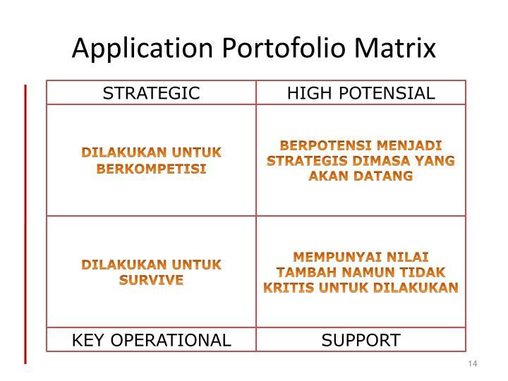 Application Portofolio Matrix