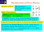 big questions in flavor physics