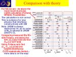 comparison with theory1