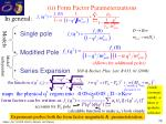 ii form factor parameterizations