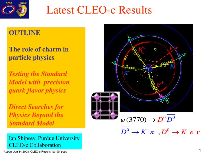 latest cleo c results n.