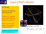 latest cleo c results