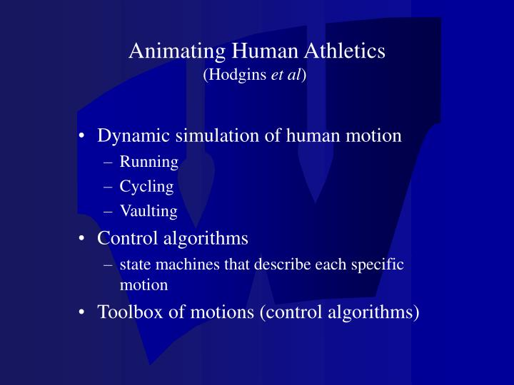 Animating Human Athletics