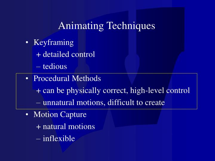 Animating Techniques