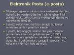 elektronik posta e posta