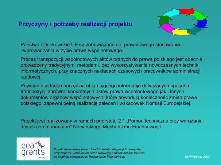 Przyczyny i potrzeby realizacji projektu