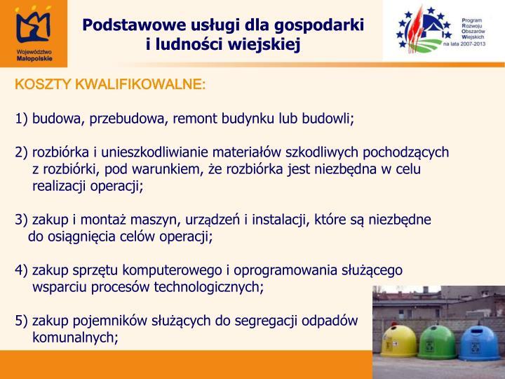 Podstawowe usługi dla gospodarki