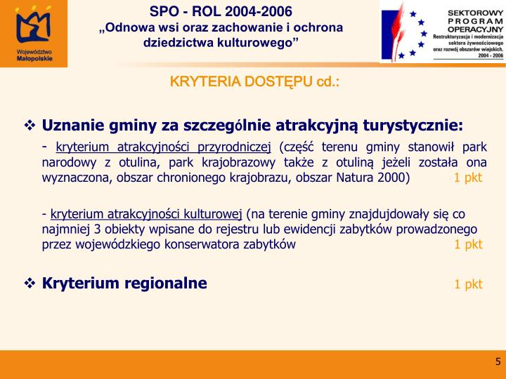 SPO - ROL 2004-2006