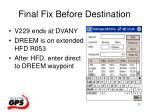 final fix before destination