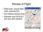 review of flight