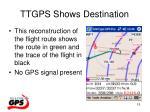 ttgps shows destination