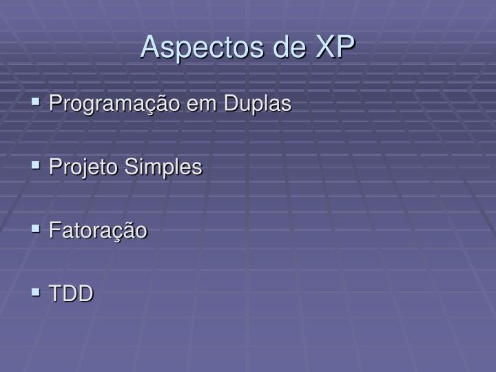 Aspectos de XP