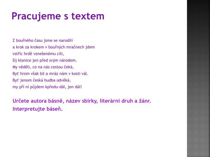 Pracujeme s textem