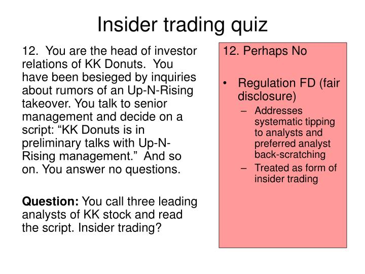 insider trading essay Insider trading represents trading in a security by a person who has rights to access to restricted we will write a custom essay sample on insider trading specifically for you for only $1638.