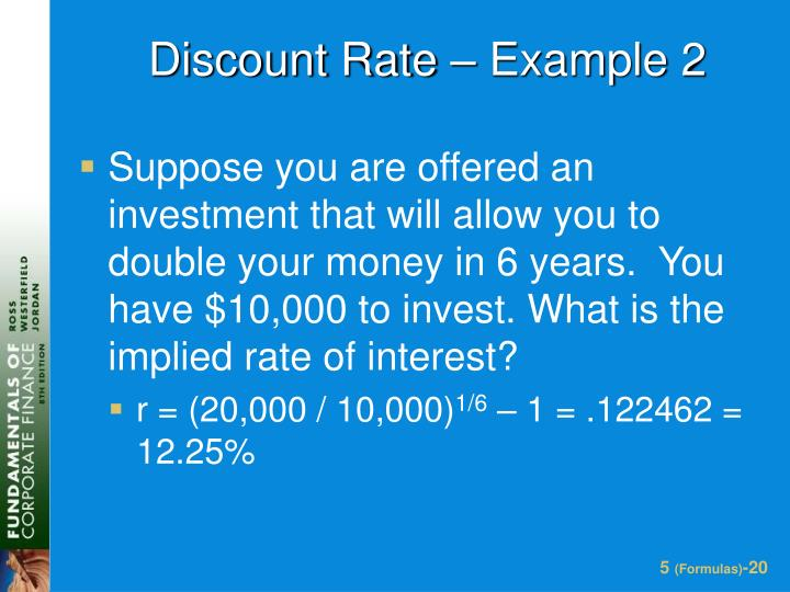 Discount Rate – Example 2