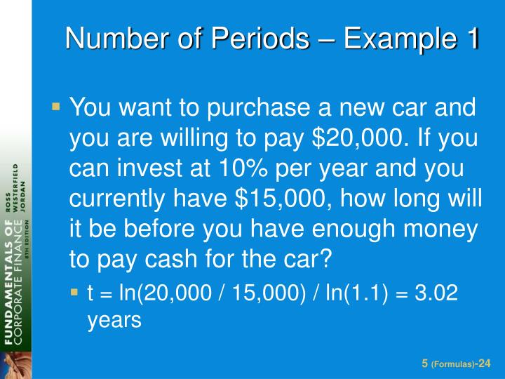 Number of Periods – Example 1