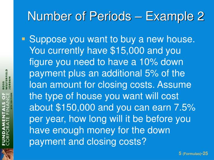 Number of Periods – Example 2