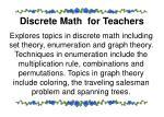 discrete math for teachers