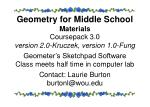 geometry for middle school materials