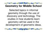 geometry for middle school