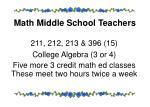 math middle school teachers