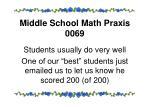 middle school math praxis 0069