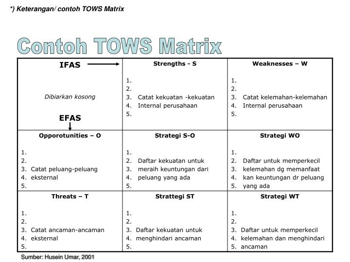 tows matrix for banking industry The threats-opportunities-weaknesses-strengths matrix or tows matrix indicates four conceptually distinct alternative strategies, tactics and actions.