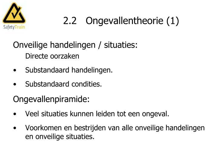 2.2   Ongevallentheorie (1)