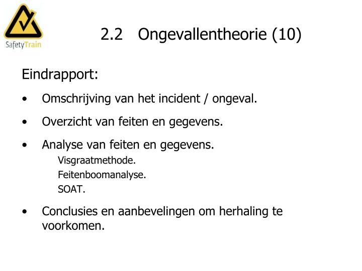 2.2   Ongevallentheorie (10)