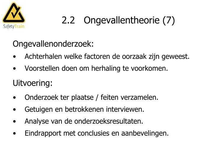 2.2   Ongevallentheorie (7)