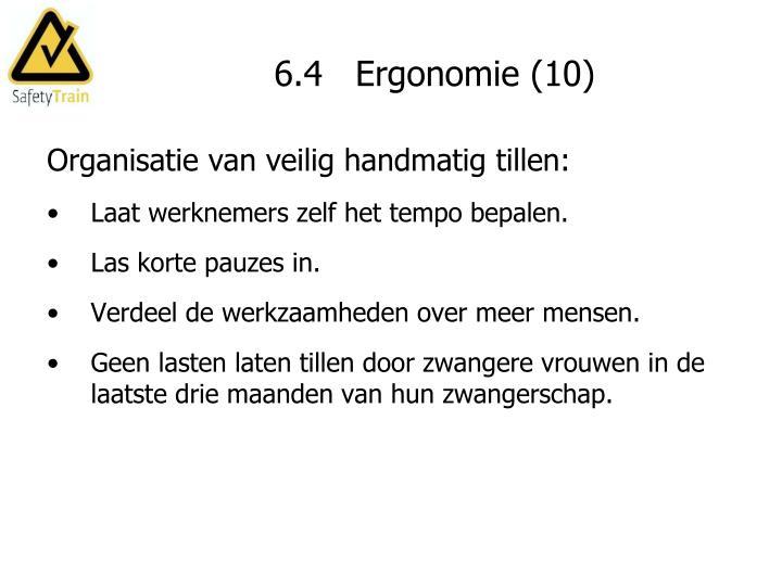 6.4   Ergonomie (10)