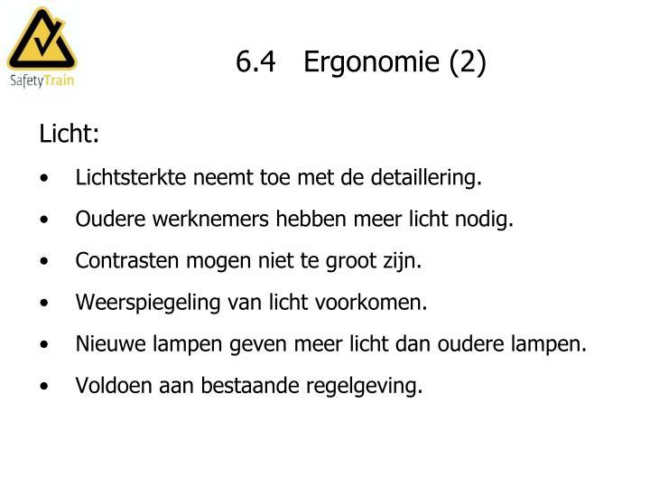 6.4   Ergonomie (2)