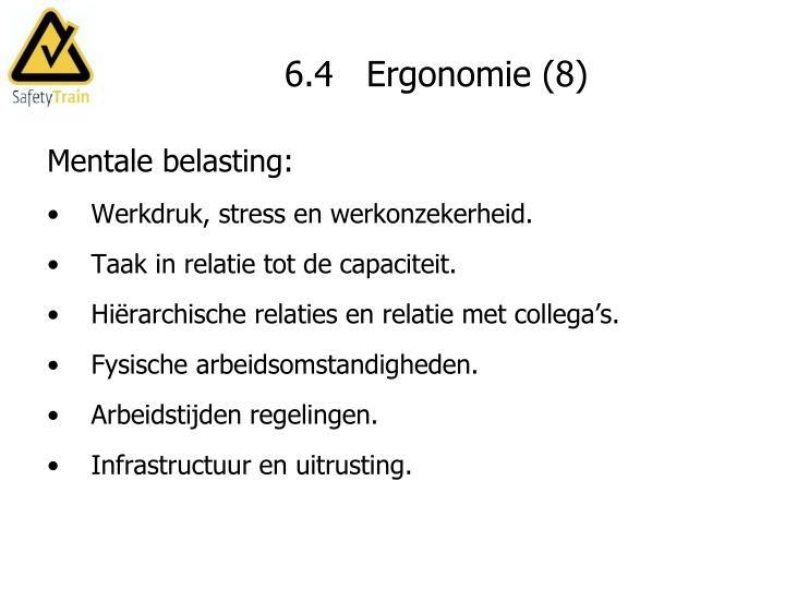 6.4   Ergonomie (8)