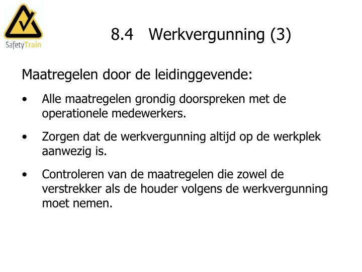 8.4   Werkvergunning (3)