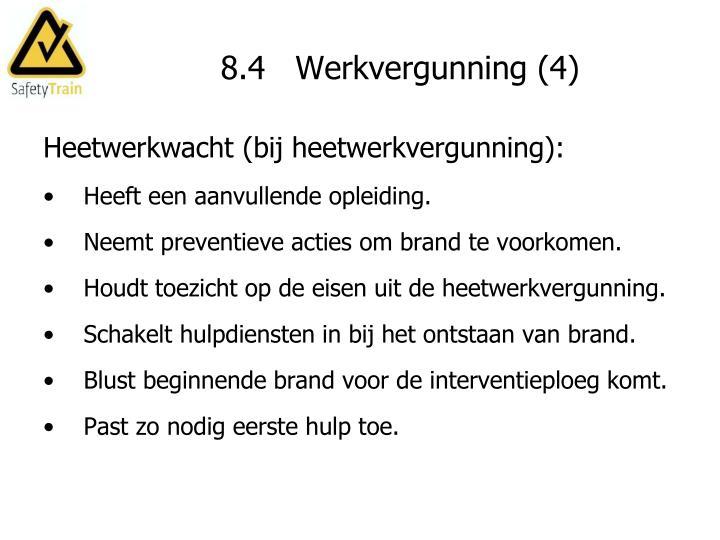 8.4   Werkvergunning (4)