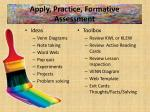 apply practice formative assessment