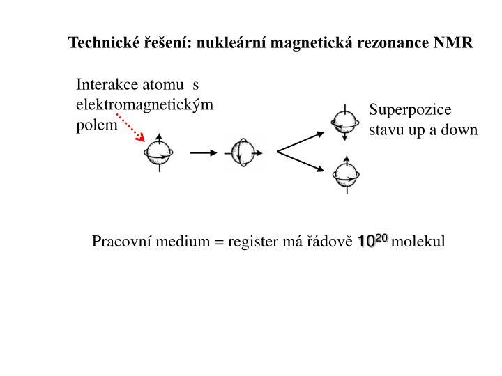 Technické řešení: nukleární magnetická rezonance NMR