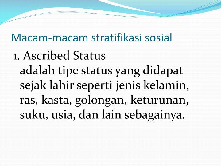 ascribed status essay