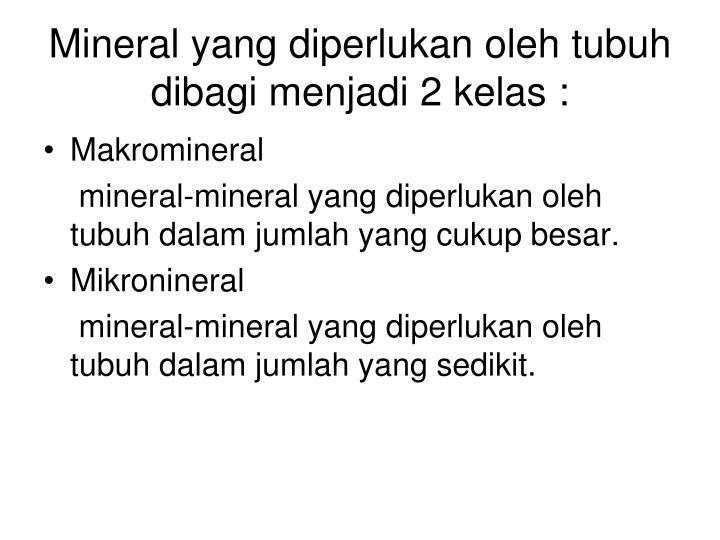 Mineral yang