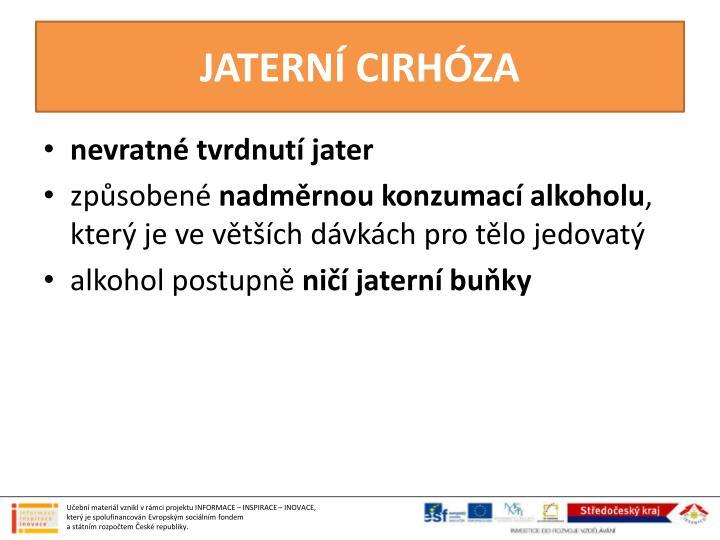 JATERNÍ CIRHÓZA