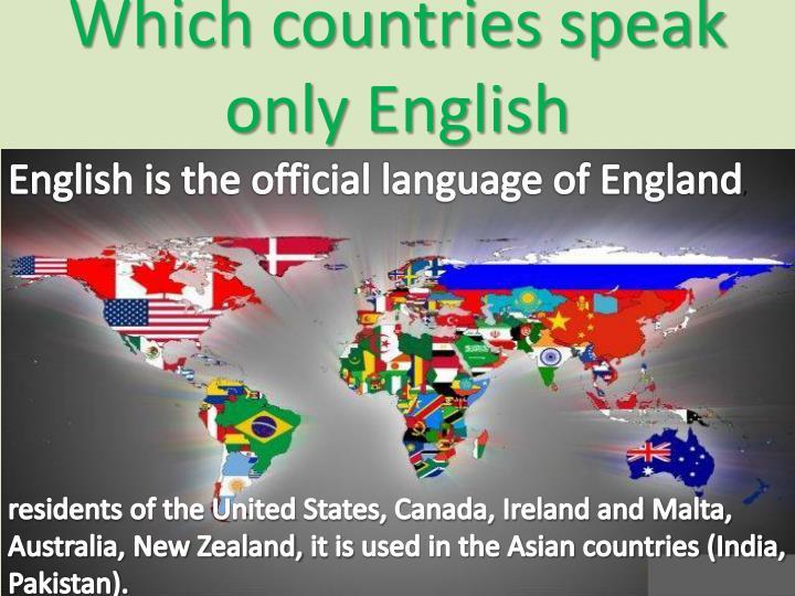 Which countries speak