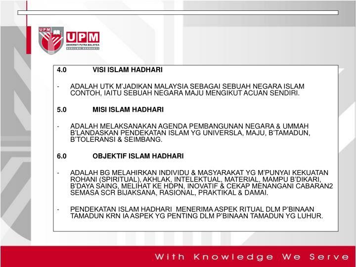 4.0VISI ISLAM HADHARI
