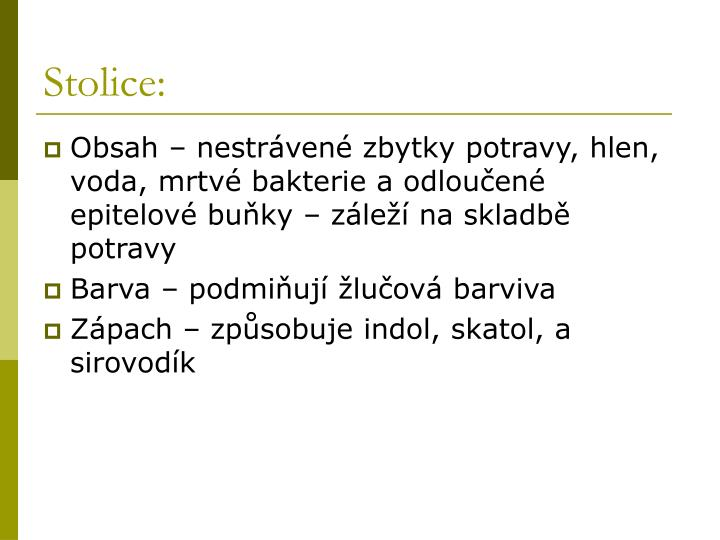 Stolice: