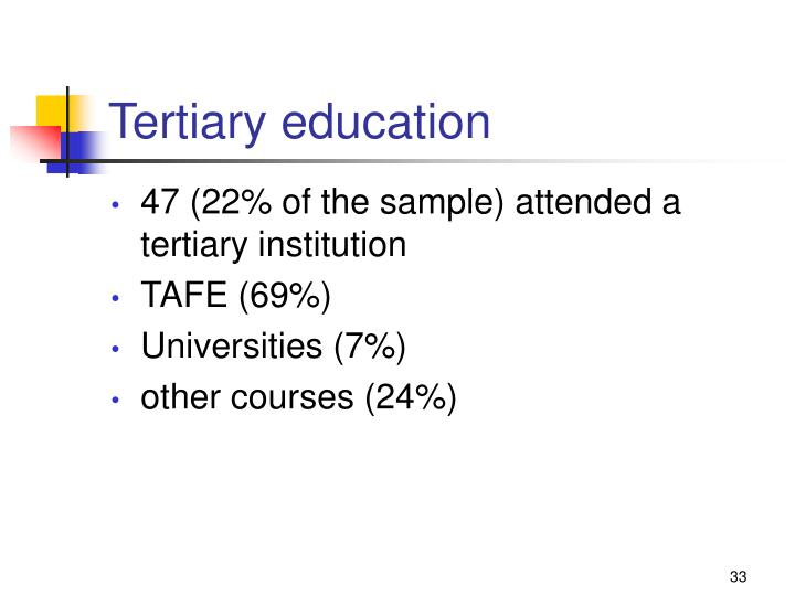 Tertiary education