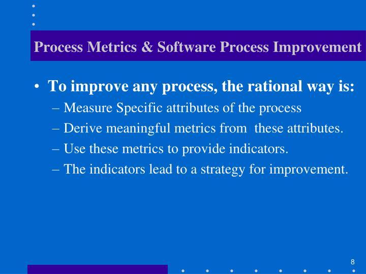 Process Metrics & Software Process Improvement