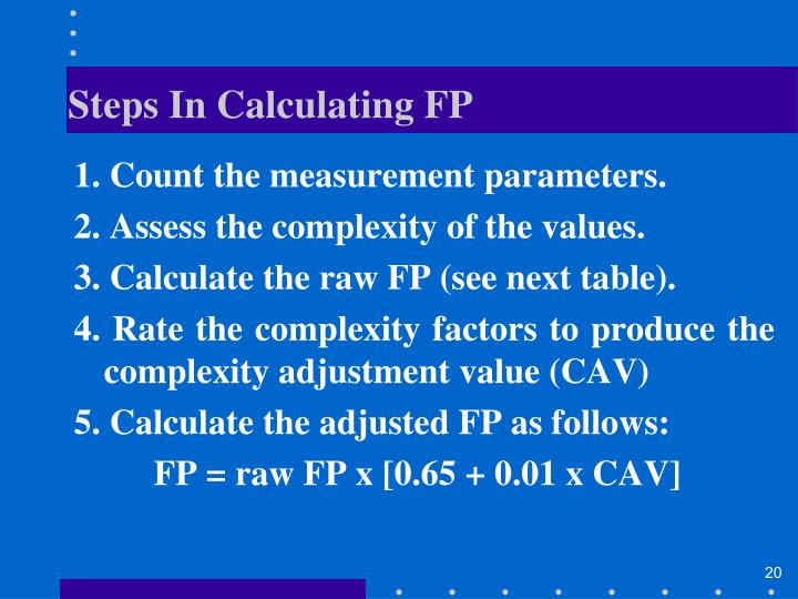 Steps In Calculating FP